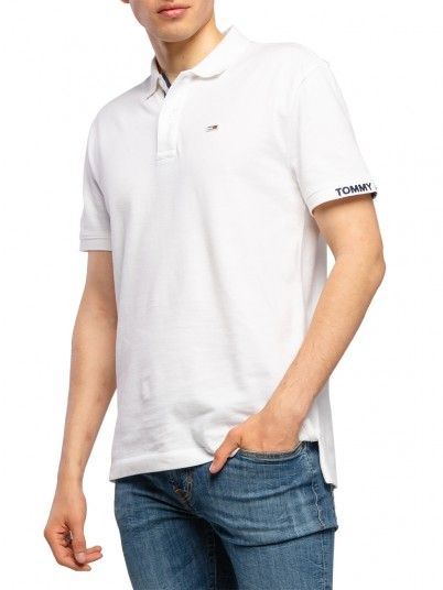 Polo Hombre Blanco Tommy Jeans