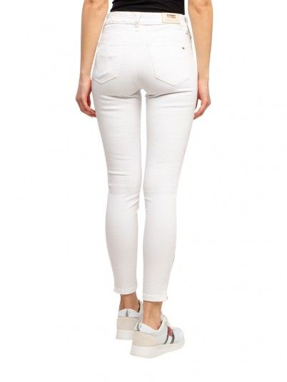 Pantalones Mujer Blanco Tommy Jeans