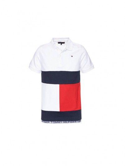 Polo Shirt Boy White Tommy Jeans Kids