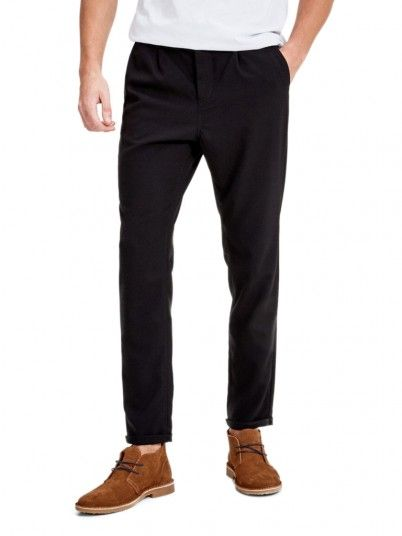 Pantalones Hombre Negro Jack & Jones