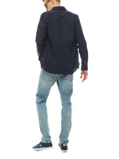 Camisa Hombre Azul Marino Calvin Klein