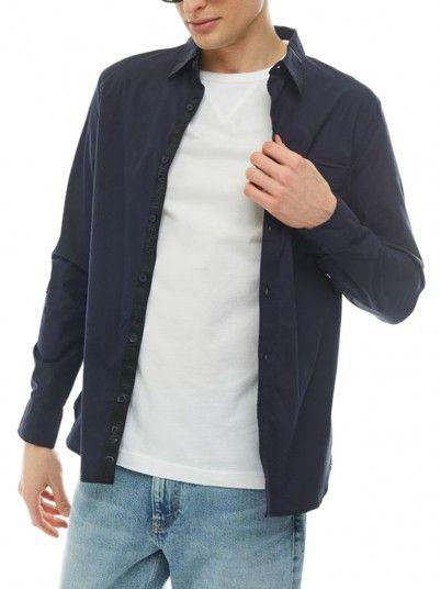 Camicia Uomo Blu Navy Calvin Klein