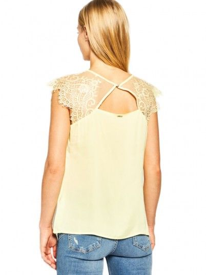 Shirt Woman Lemon Yellow Guess