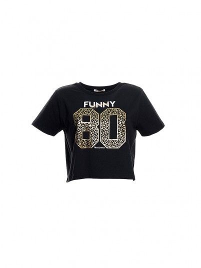 T-Shirt Woman Black Fracomina
