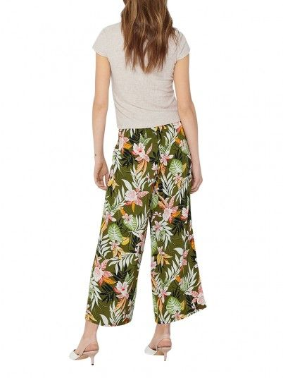 Pantalones Mujer Verde Only