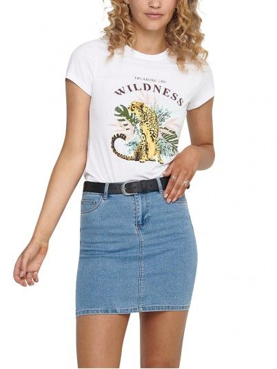 Camiseta Mujer Blanco Only