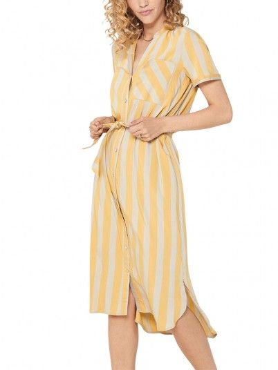 Dress Woman Yellow Only