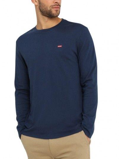 Sweatshirt Homme Bleu Foncé Levis