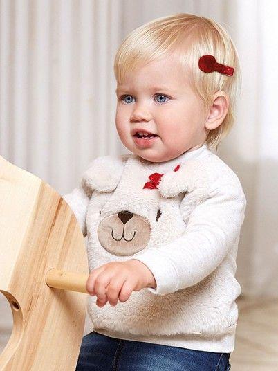 Sweatshirt Baby Girl Beige Mayoral