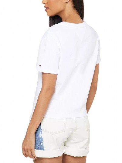 T-Shirt Mulher Flag Tommy Jeans
