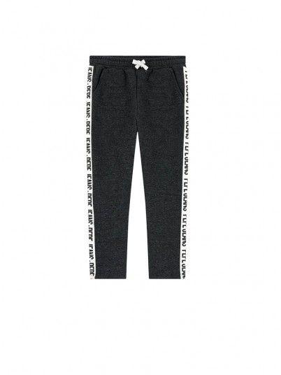 Pantalon Fille Noir Pepe Jeans London