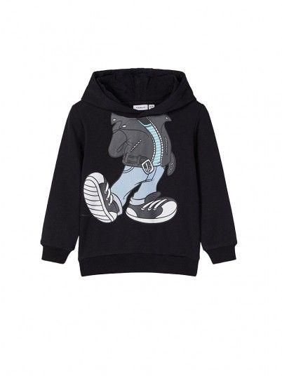 Sweatshirt Garçon Noir Name It