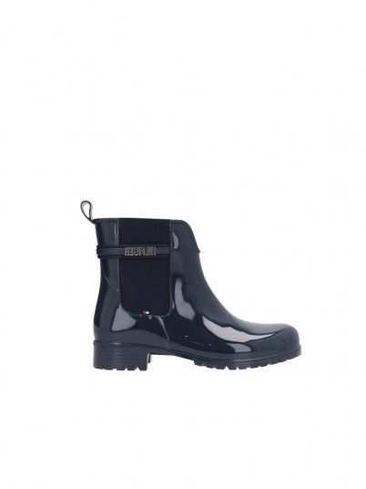 Bota Mulher Rainboot Tommy Jeans