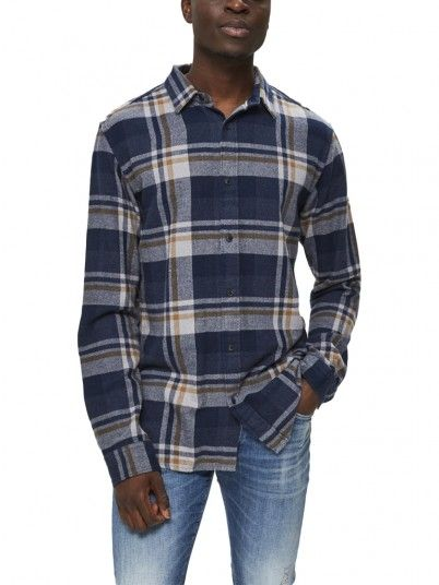 Chemise Homme Bleu Selected