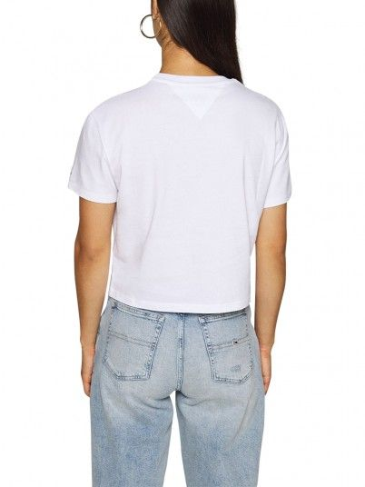 T-Shirt Mulher Modern Linear Tommy Jeans
