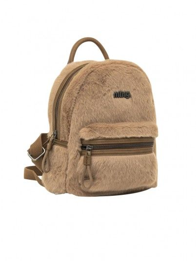 Backpack Woman Brown Mtng