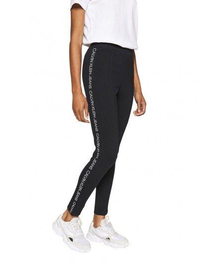 Leggings Mulher Moto Calvin Klein