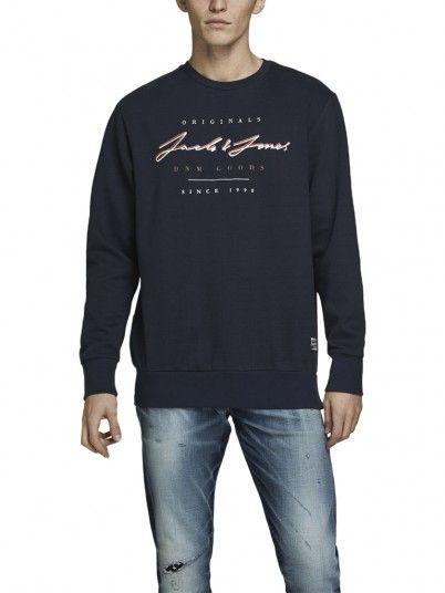 Sweatshirt Homme Bleu Marine Jack & Jones