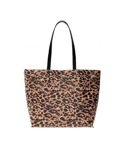 Handbag Woman Animal Print Versace
