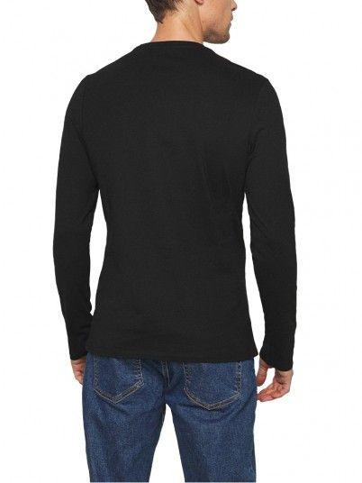 Sweatshirt Homem  Cn Ls Logo Guess