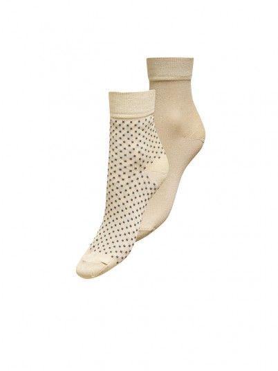 Socks Woman Beige Only