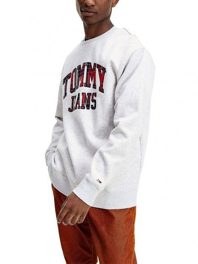 Sweatshirt Man Grey Tommy Jeans