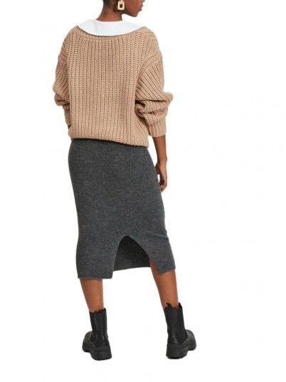 Skirt Woman Dark Grey Vila
