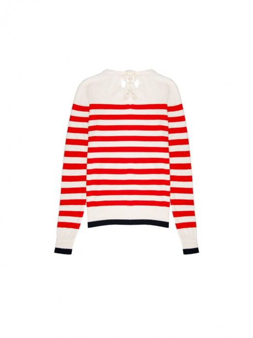Knitwear Woman Red Stripe Vero Moda