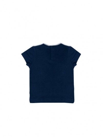 T-Shirt Baby Girl Navy Blue Mayoral