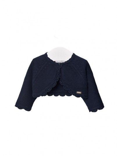 Jacket Baby Girl Navy Blue Mayoral
