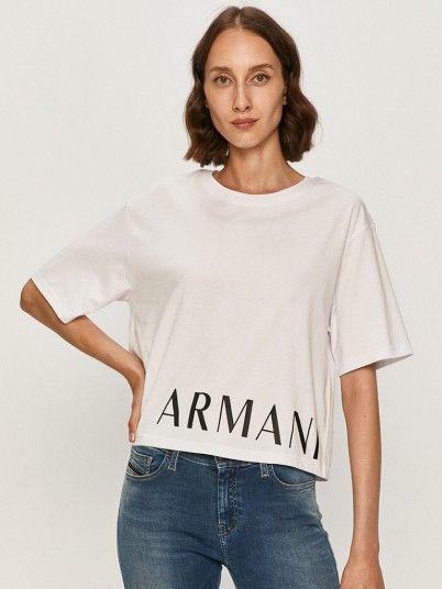 T-Shirt Woman White Armani Exchange