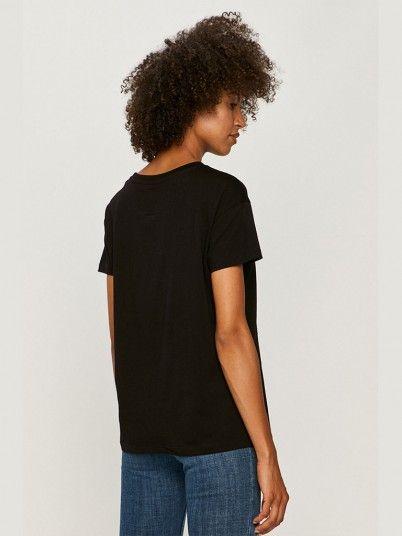 T-Shirt Woman Black Armani Exchange