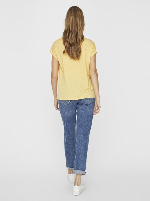 T-Shirt Woman Yellow Vero Moda