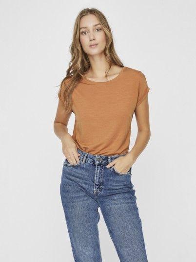 T-Shirt Woman Camel Vero Moda