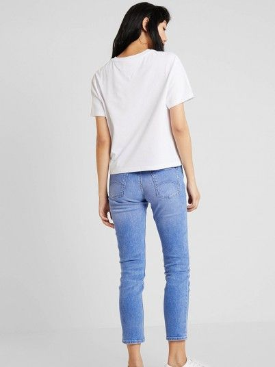 T-Shirt Mulher Badge Tommy Jeans
