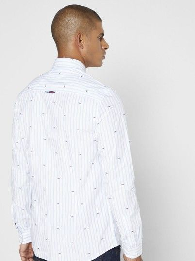 Shirt Man Blue Stripe Tommy Jeans