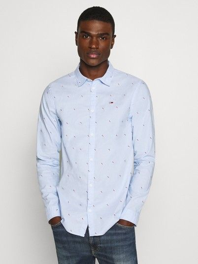 Shirt Man Blue Tommy Jeans