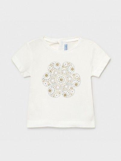 T-Shirt Baby Girl Cream Mayoral