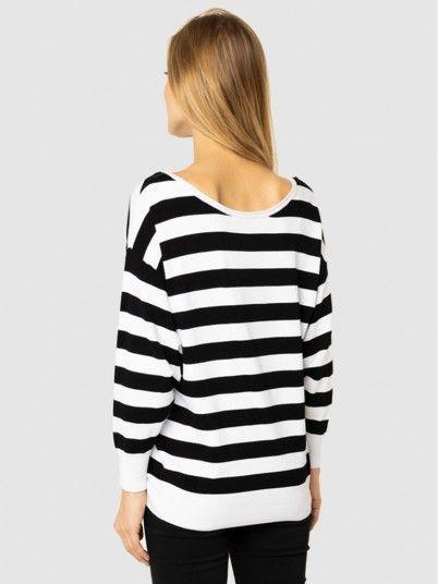 Sweatshirt Woman Black W / White Guess
