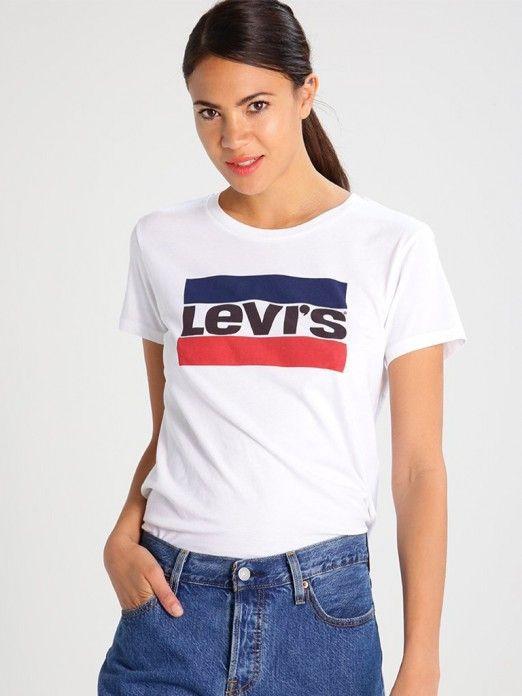 T-Shirt Manga Curta Mulher Perfect Logo Levis