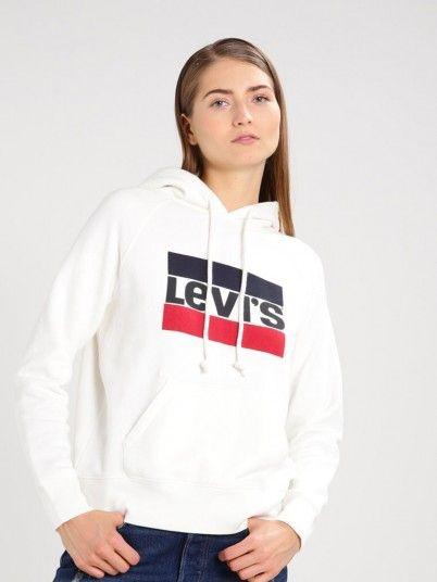 Sweatshirt Femme Blanc Levis