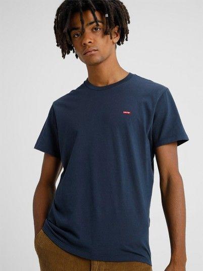 T-Shirt Man Navy Blue Levis