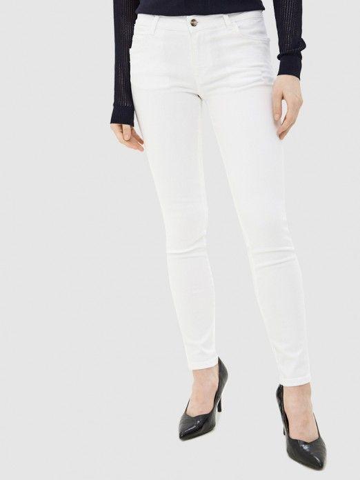 Pantalones Mujer Blanco Guess W0ga37d3xv2 Mellmak