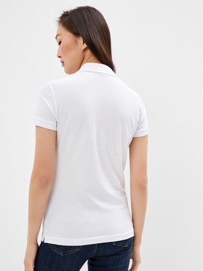Polo Shirt Woman White Armani Exchange