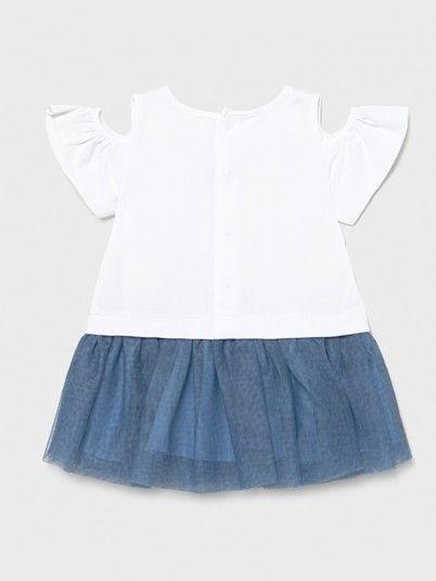 Vestido Combinado Tule Bebé Menina Mayoral
