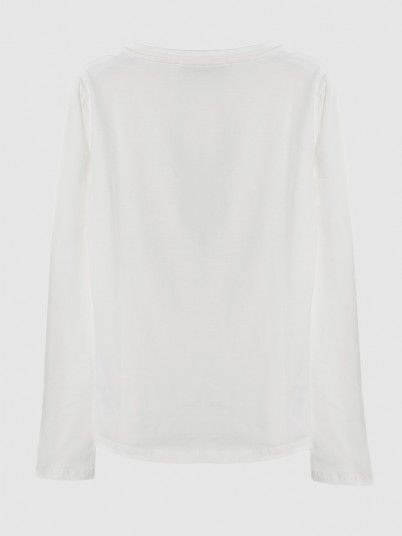 Sweatshirt Girl White Fracomina