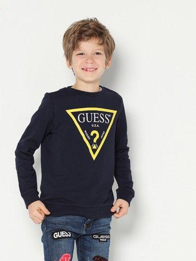 Sweatshirt Boy Dark Blue Guess