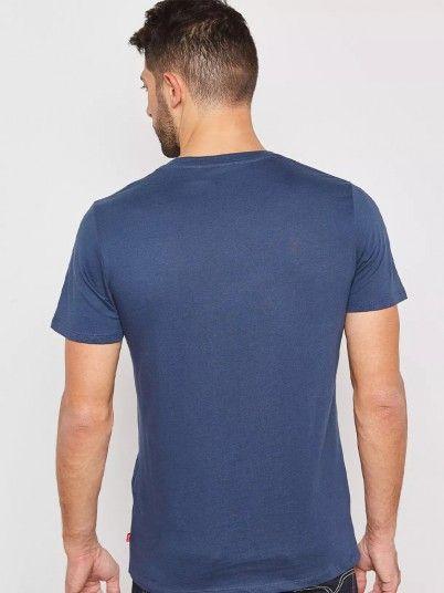 T-Shirt Homme Bleu Marine Levis