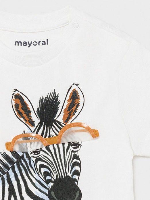 T-Shirt Baby Boy White Mayoral