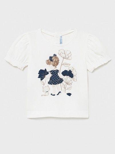 T-Shirt Baby Girl White Mayoral